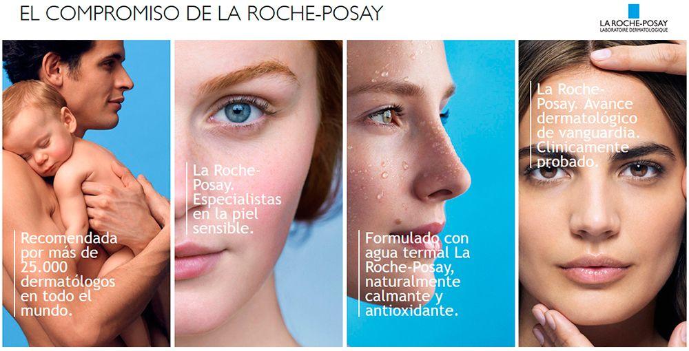 Distintas imágenes que caracterizan al laboratorio dermatológico La Roche-Posay