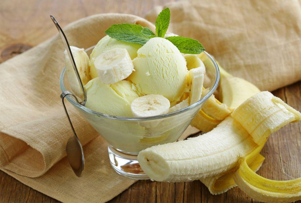 Alimentos como el plátano y el helado tienen un índice glucémico medio